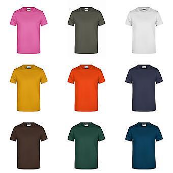 James And Nicholson Mens Round Neck Basic T-Shirt