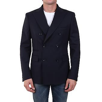 Tonello 01g3r0x6973u600 Men's Blue Wool Blazer