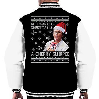 Stranger Things Alexei Cherry Slurpee Christmas Wish Men-apos;s Varsity Veste