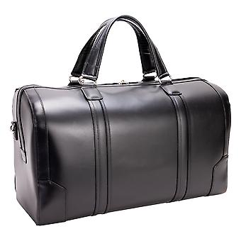 """88195, Kinzie 20"""" Carry-All Leather Duffel - Black"""