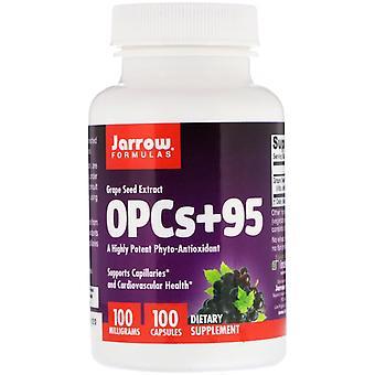 Formules Jarrow, OPCs + 95, Extrait de pépins de raisin, 100 mg, 100 capsules