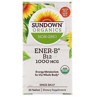 Sundown Organics, Ener-B, B12, 1,000 mcg, 30 Tablets