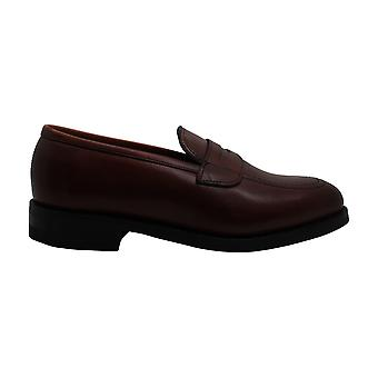 Allen Edmonds Mens Cavanaugh Couro Fechado Dedo do dedo do ar Penny Loafer