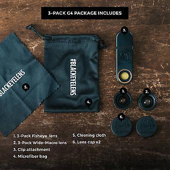 Black eye 3-pack smartphone lens - Gen4