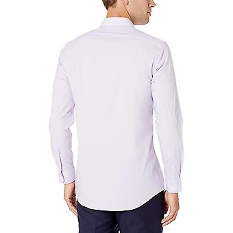 Essentials Men's Slim-fit Wrinkle-Resistant Stretch Dress Shirt