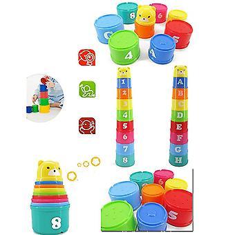 Stack Cup Tower Figures Lettres éducation jouets pour bébés pliage tôt