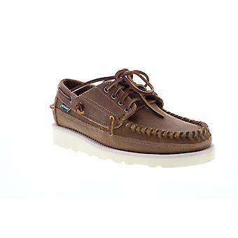 Sebago Keuka Mens Brown Suede Slip On Boat Shoes Loafers