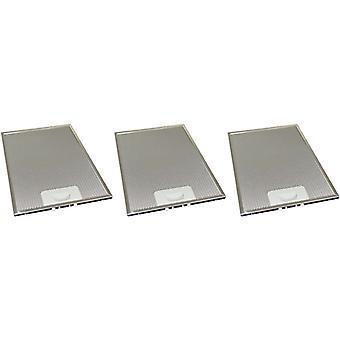 3 x Universal Cooker Haube Metall Fettfilter 234mm x 318mm