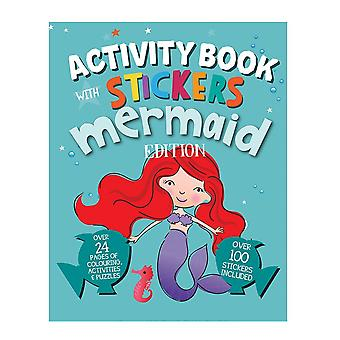 A4 Size Mermaid Edition Children's Activity Book With Stickers