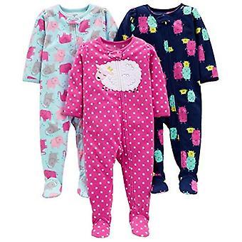 Einfache Freuden von Carter's Baby Girls' Kleinkind 3-Pack Flammen resistant Fleece Foo...