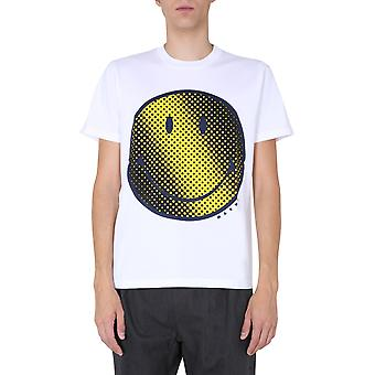 Marni Humu0179p0s2372700w01 Men's White Cotton T-shirt