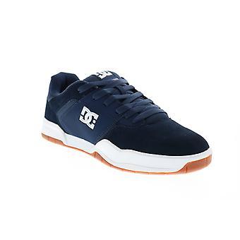 DC Central Mens Blue Suede Lace Up Skate Geïnspireerd sneakers schoenen