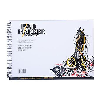 Professional Spiral Sketch Notepad Book Painting Drawing Marker Paper Pad