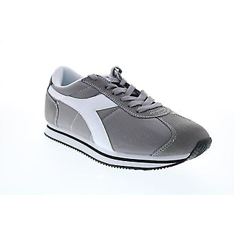 Diadora Vega  Mens Gray Canvas Lace Up Lifestyle Sneakers Shoes