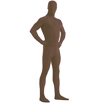 AltSkin Adult/Kids Full Body Stretch Fabric Zentai Suit - Zippered Back One Piece Stretch Suit Costume - Chocolate
