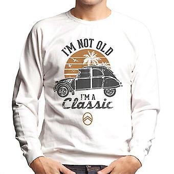 Citroen 2CV Black I'm Not Old Classic Sunset Miesten collegepaita