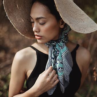 Sciarpa Batik di seta flower pattern