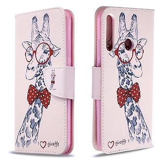 For Huawei P40 Lite E / Y7P Colored Drawing Pattern Horizontal Flip Leather Case with Holder & Card Slots & Wallet(Deer)