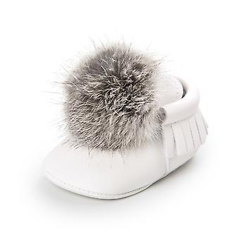 Newborn Baby Plush Ball Soft Crib Shoes Moccasin Shoes