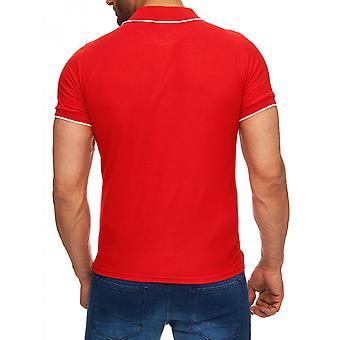 Mens kort erme poloshirt høy krage t-skjorte skjorte Watercraft blåhvit