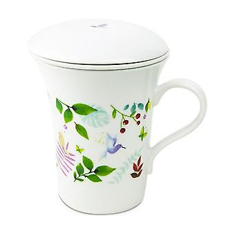 Eden teapot with filter and lid in fine porcelain 250 ml