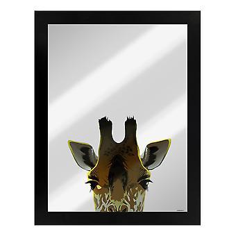 Inquisitive Creatures Giraffe Mirrored Plaque