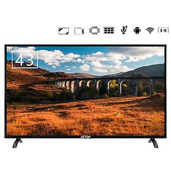 Tempered Glass Television Flat Screen - Android Smart 4k Hd Led With Bluetooth