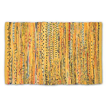 Dii Multi Mustard Rag Rug