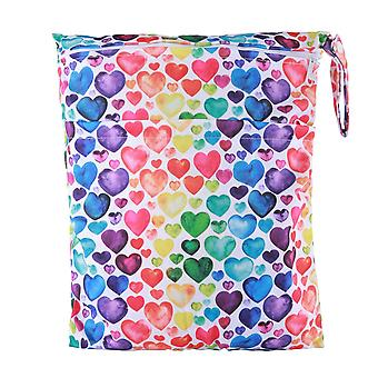 Wet Dry Bag With Two Zippered For Baby Diapers, Nappies Waterproof Reusable