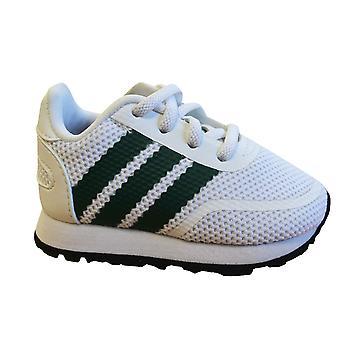 أداس الأصل N-5923 الصغار المدربين الأبيض الأخضر الدانتيل حتى أحذية الأطفال CG6974