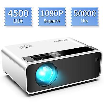Mini projektor, elephas video projektor 4500 lux 50.000 óra hosszú élettartamú hordozható házimozi