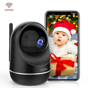 Victure dualband 2.4ghz and 5ghz 1080p pet wifi camera baby monitor with camera, home security indoo