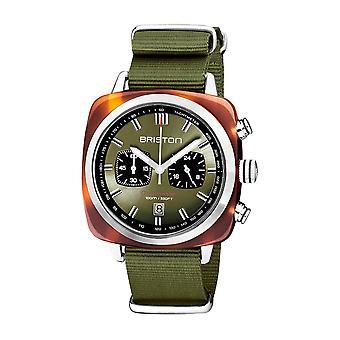 Briston 20142.SA.TS.26.NOL Clubmaster Sport Acetate Wristwatch Green