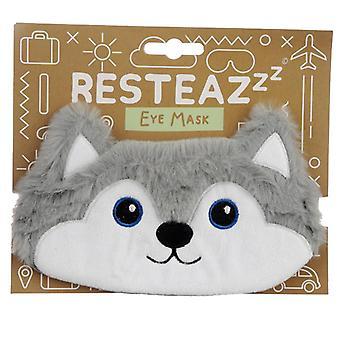 Sjov øjenmaske - plys husky hund