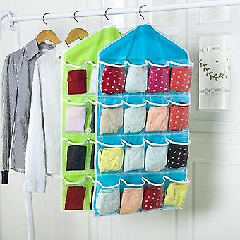 Wardrobe Hanging Bags Container Clothing Underwear Bras Socks Ties Hanger Shoes