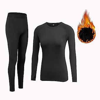Winter Thermal Underwear Suit Quick Dry Stretch Anti-microbial Warm Casual