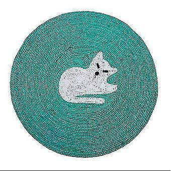Cat Scratch Pad Carpet Cat Scratcher Cute Round Dish New Pet Supplies