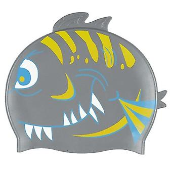 BECO Junior Silicone Character Swim Caps-Silver Shark