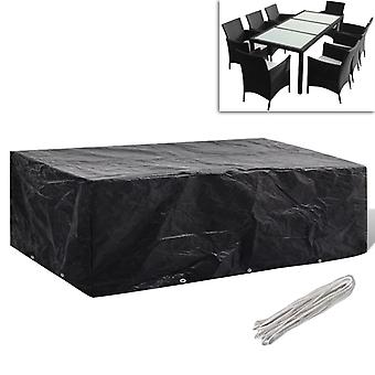 "vidaXL גן רהיטים לכסות 8 אנשים פולי ראטאן 10 Eyelets 300x140 ס""מ"