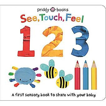 See Touch Feel 123 (See Touch Feel) [Board book]