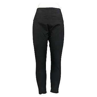 Femmes avec leggings de contrôle régulier réversible chino noir A384086