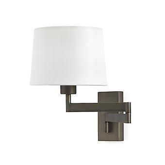 Luce da parete con bianco ombra, E27