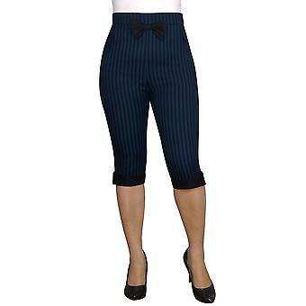 Chic Star Plus Size Bow Retro Pants In Blue