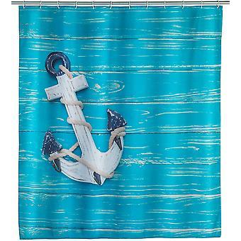 douchegordijn buitenland 200 x 180 cm polyester blauw