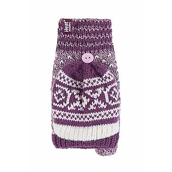 Ladies Fairisle Thermal Converter Gloves