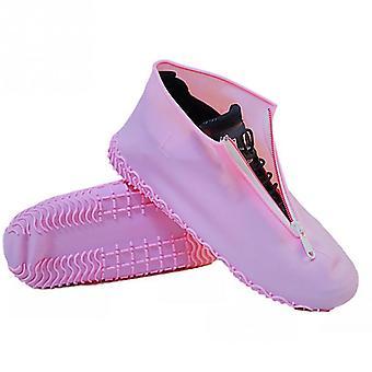 مرونة غطاء حذاء السيليكون، زيبر المحمولة أحذية المطر الملحقات