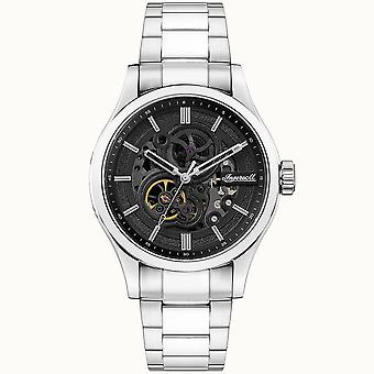 Ingersoll I06803 The Armstrong Automatic Silver Stainless Steel Skeleton Mens Watch