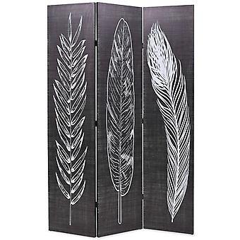 vidaXL huoneenjakaja taitettava 120 x 170 cm jouset mustavalkoisia