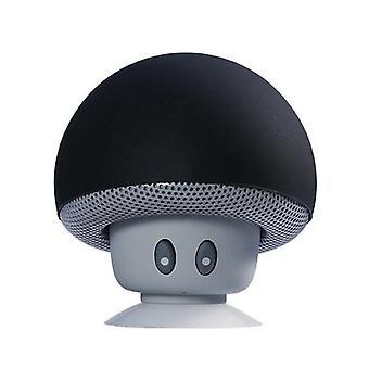 Cartoon Mushroom Head BT Speaker Suction Cup Phone Holder Portable Outdoor Sound