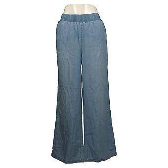 DG2 af Diane Gilman Women's Pants SoftCell Denim Wide-Leg Blue 698804